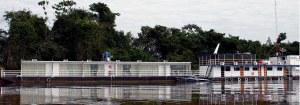 Ons tweede blyplek was in 'n drywende hotel(flotel) diep in die Pantanal.Hier was ons vir vyf nagte.